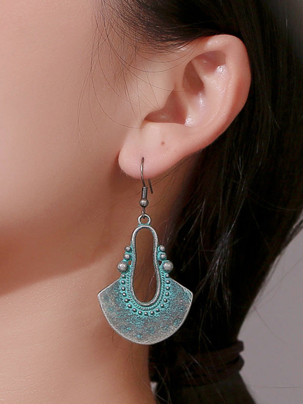 Vintage Palace Style Bronze Elements Earrings