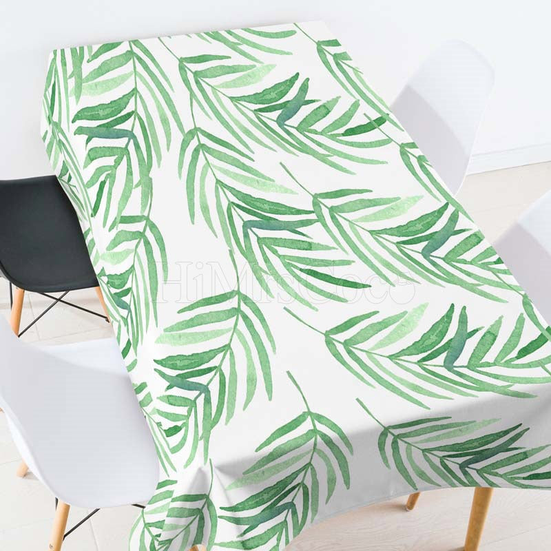 Willow Leaves Casual Printed Tablecloth