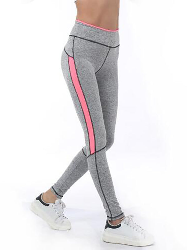 High Waist Paneled Yoga Leggings