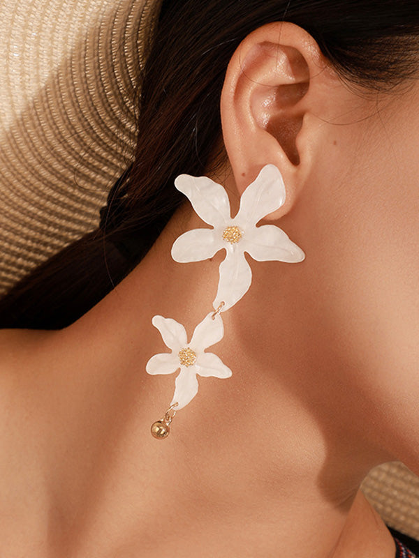 Irregular Acrylic Flower Earrings Accessories