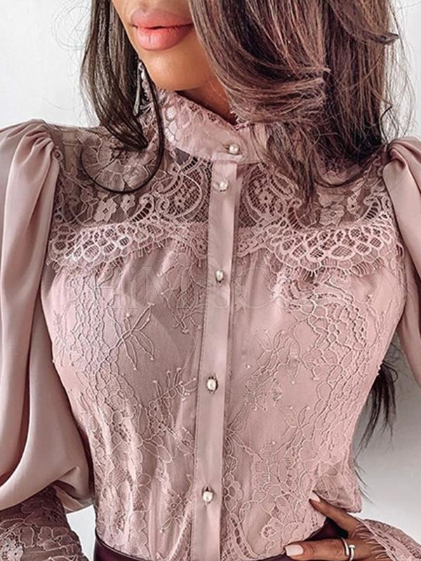 Lace Long Sleeves Blouses&shirts Tops