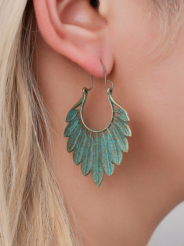 Vintage Bronze Leaf Earrings