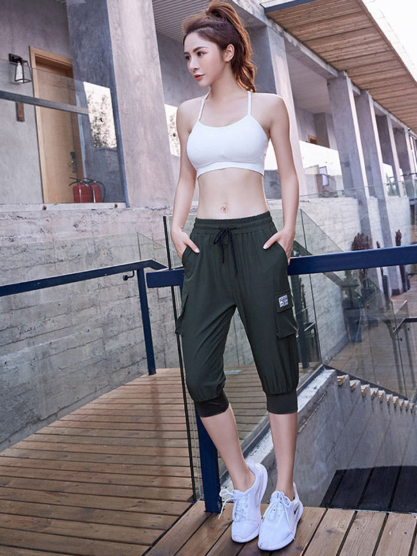 Straight Leg Quick Dry Sports Cropped Pants