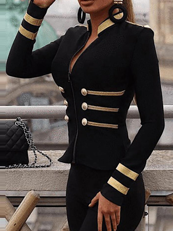 Cool Black Long Sleeve Blazer