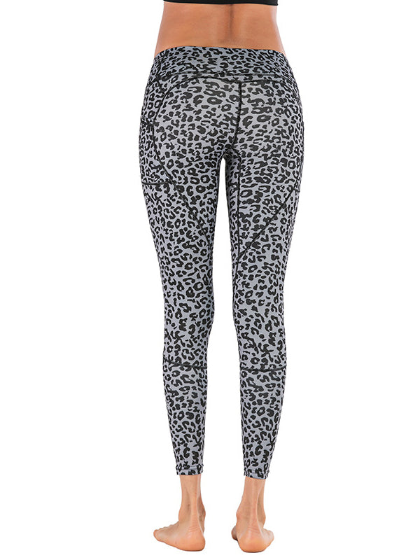 Leopard Printed With Pocket Yoga Leggings