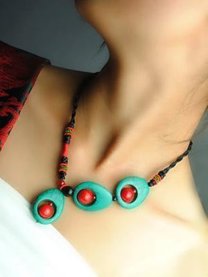 Vintage Handmade Turquoise Clavicle Necklaces Accessories