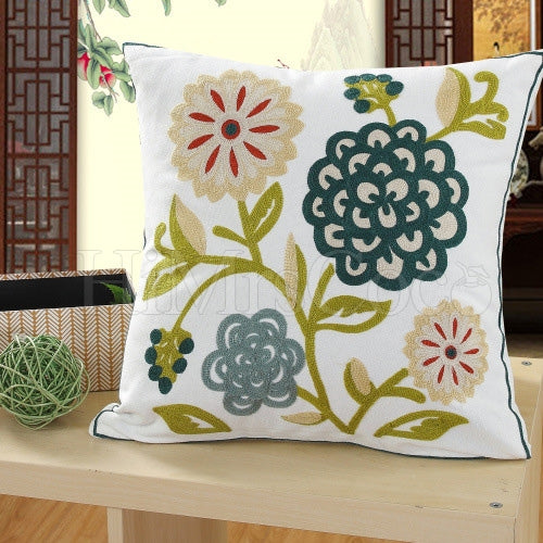 Flora Printed Square Pillow Case