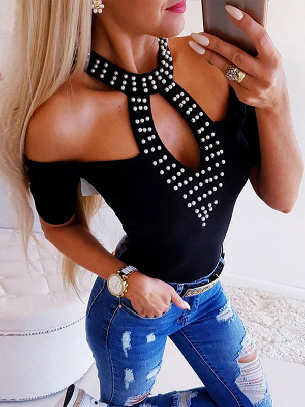 Fashion Long Sleeves Off Shoulder Blouses&shirts Tops