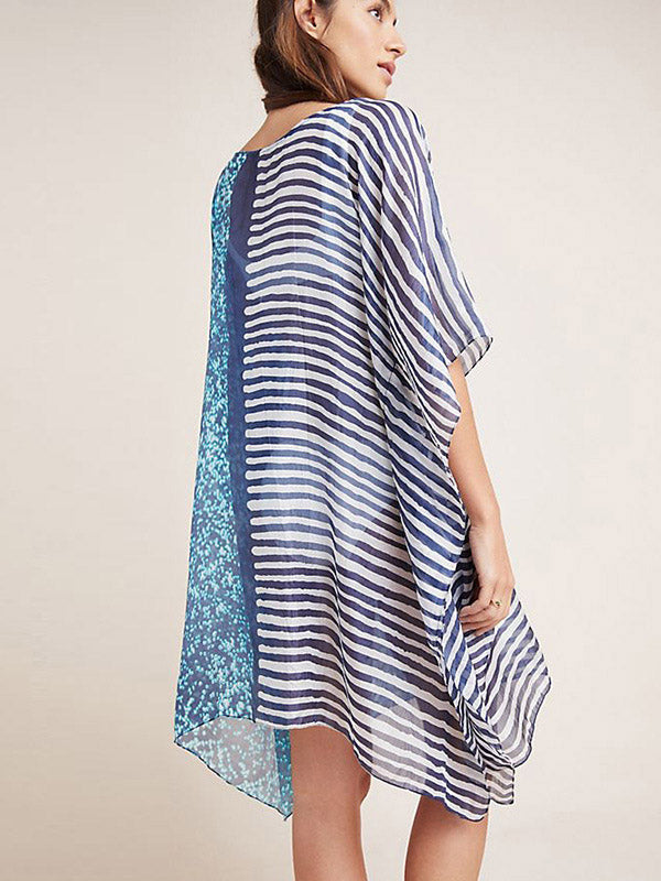 Printed Loose Beach Skirt Bikini Cover-Ups