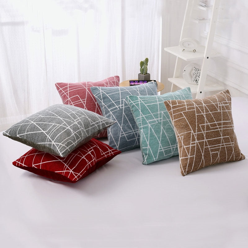 Geometric Line Print Pillowcase