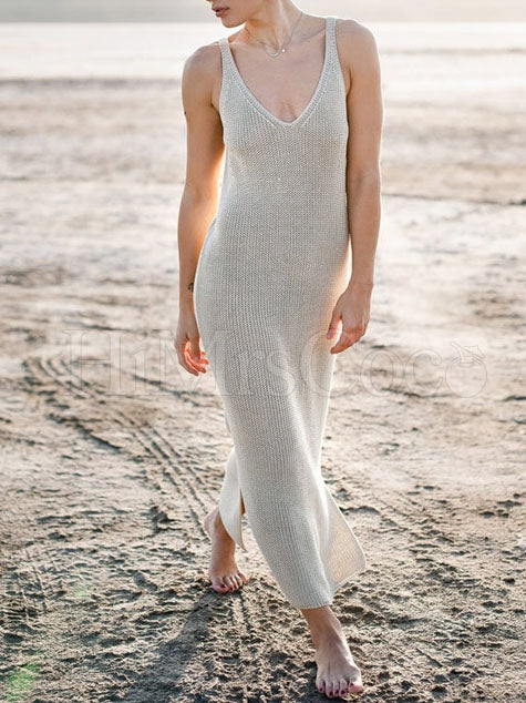 Casual Beach Hollow Sleeveless Cover-Up