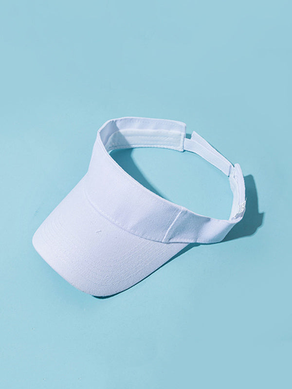 Simple Solid Sunscreen Visor Hats