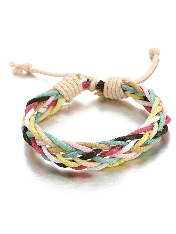 Colorful Wax Line Hand-Made Bracelet