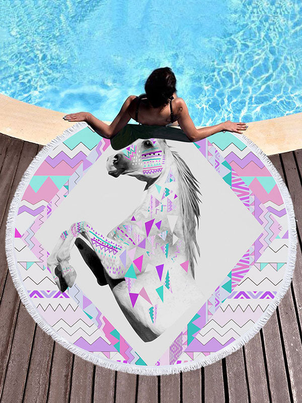Printed Unicorn Beach Mats