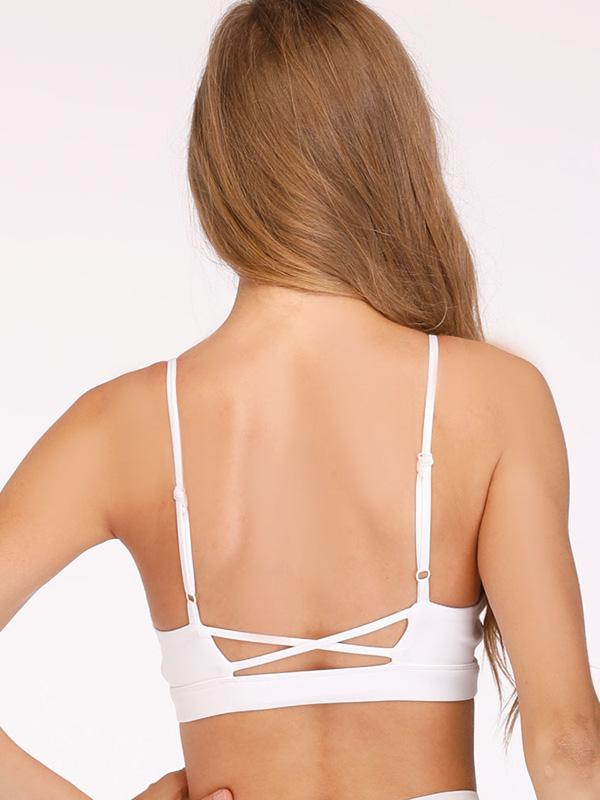 Spaghetti-neck Backless Sports Bras