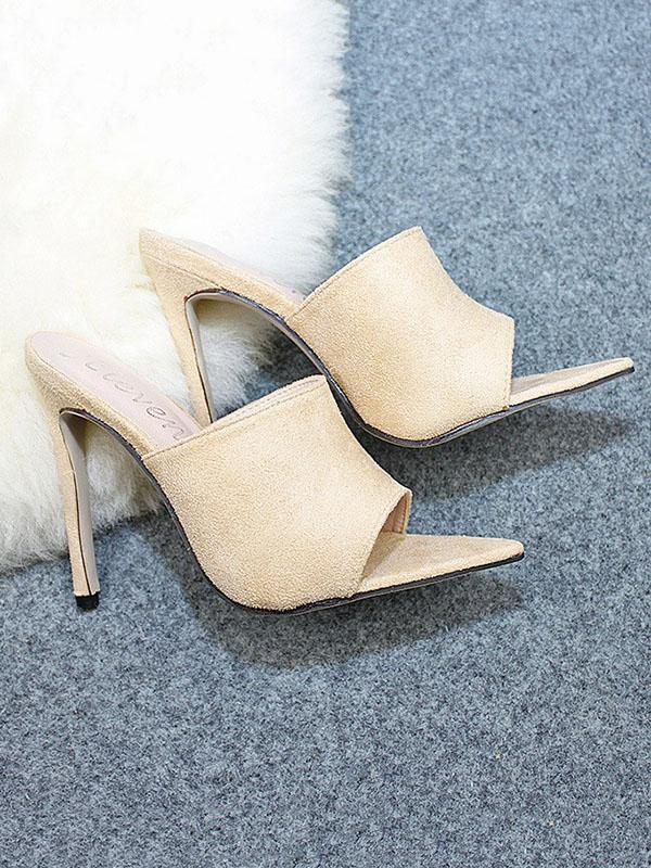 Peep Toe 5 Colors Sandal High Heels