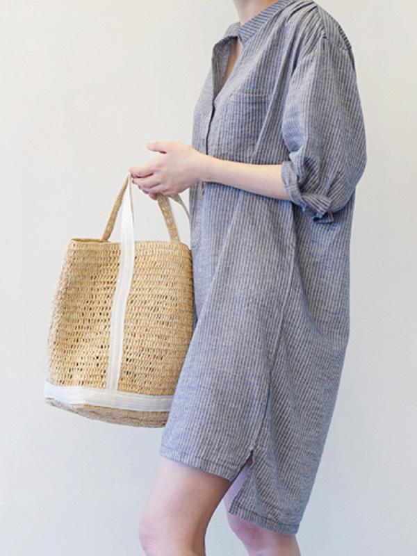 Comfortable Button In The sleeve Dress