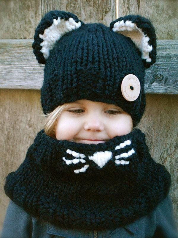 Handmade Cat Feature Scarf&Hat Accessories