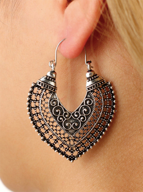 Vintage Heart-shaped Earrings