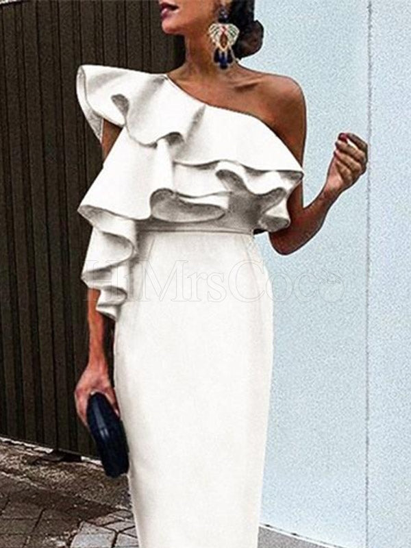 Off-the-shoulder Fashion Maxi Dress