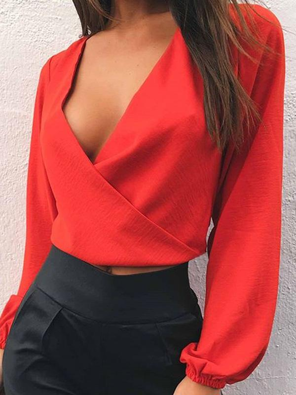 Fashion Long Sleeves Blouses&shirts Tops