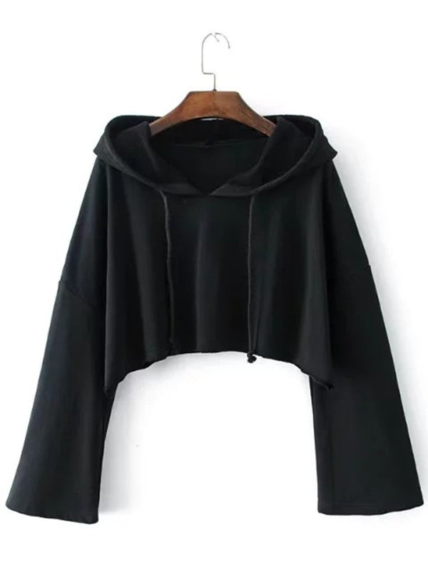 Cut Out Hooded Sweatshirts