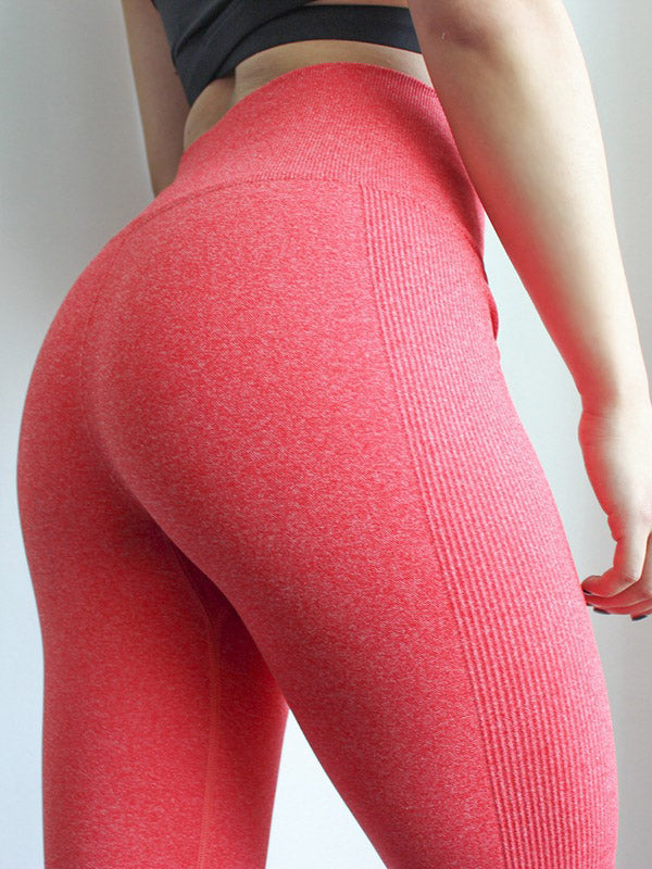 Solid Color Breathable Yoga Leggings