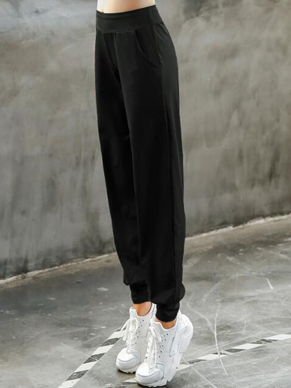 Pocket Ankle-tied Harem Pants