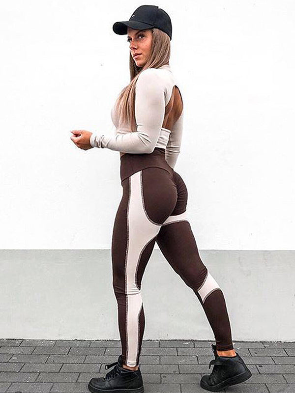 Color Block Fitness Yoga Legging