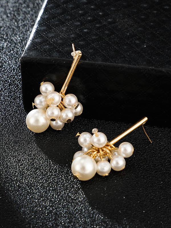 Size Pearl Tassel Earrings Accessories