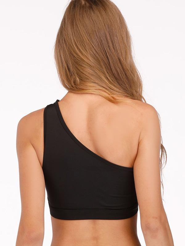 Sexy Plain One-shoulder Sports Bras
