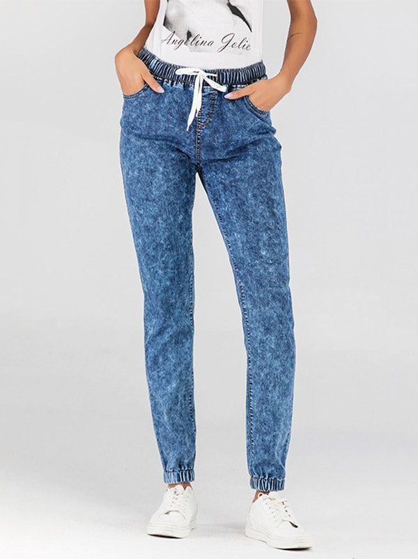 Ankle Banded Pants Jean Pants Bottoms
