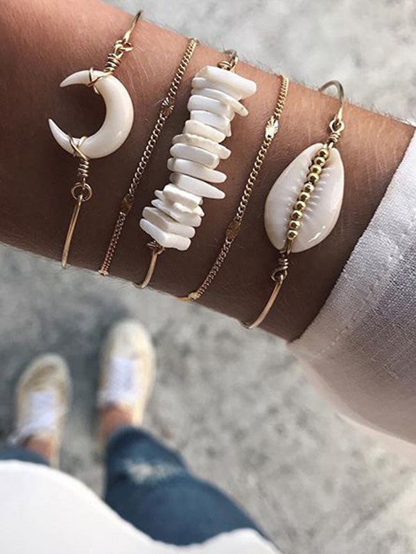 5-pieces Creative Horn Shell Bracelet Accessories