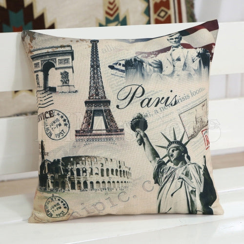 Statue Of Liberty Print Square Pillow Case