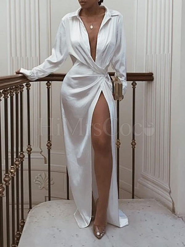 Long Sleeve Simple Maxi Dress