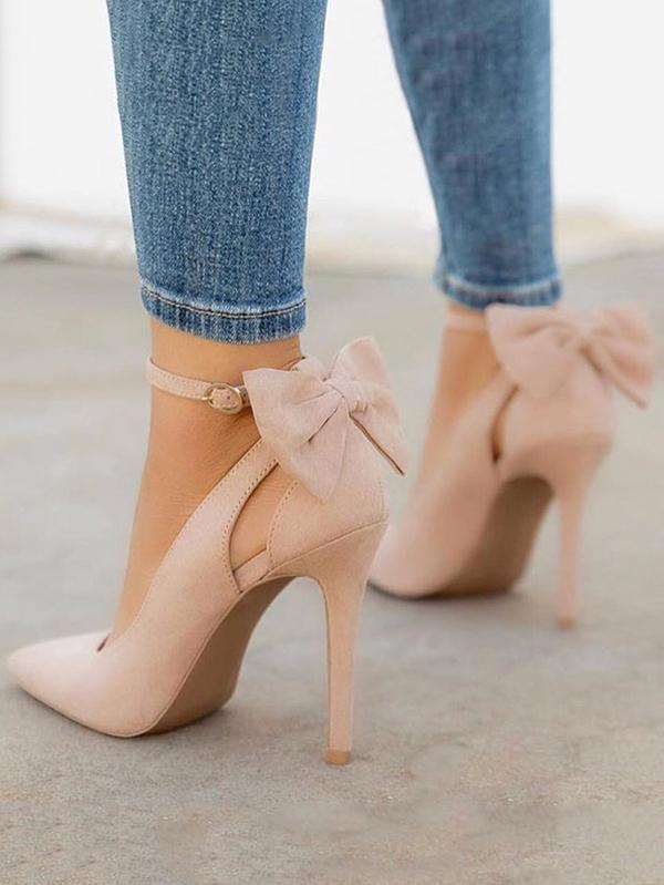 Pretty Bowknot Pointed High Heels