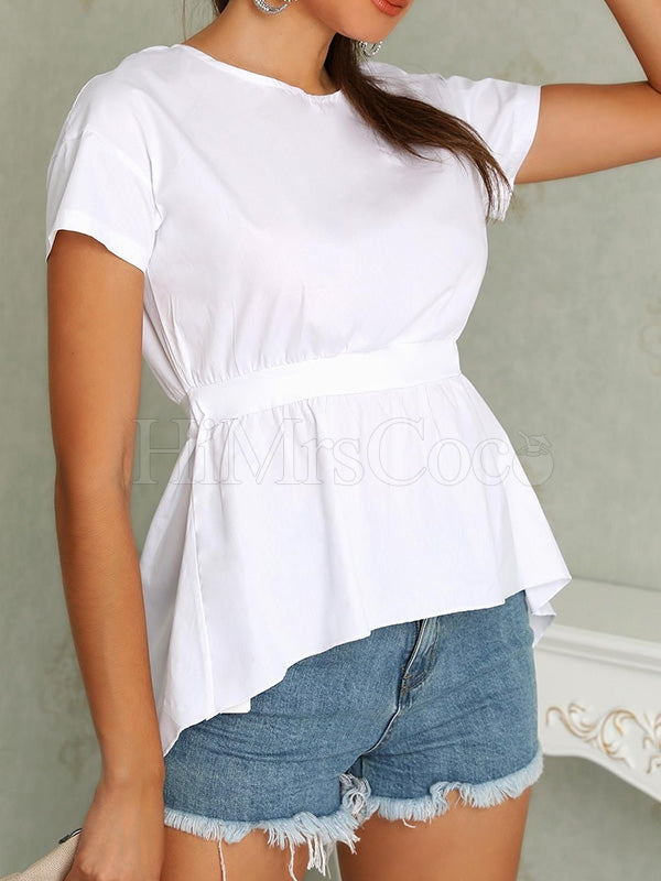 White Bandage T-Shirts Tops