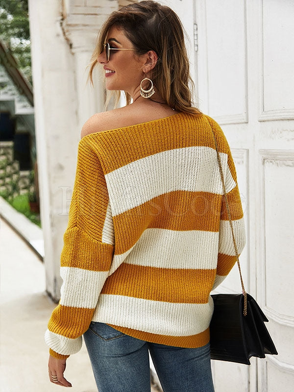 Loose Striped Knit Sweater