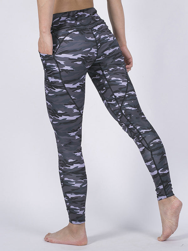 Camo Patchwork Yoga Leggings