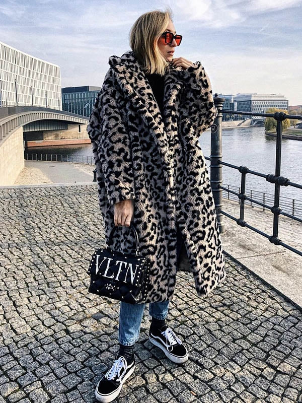 Lamb Wool Warm Leopard Outwears