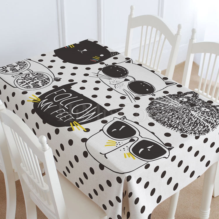 Spot & Rabbit Casual Printed Tablecloth