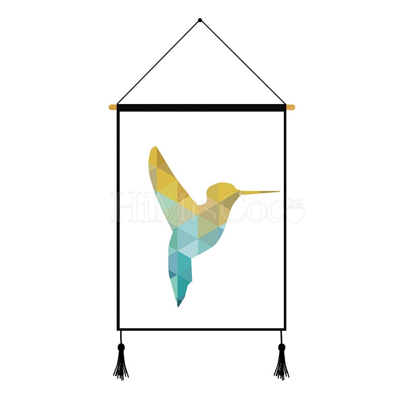 Bird Geometric Printed Wall Hanging Decoration