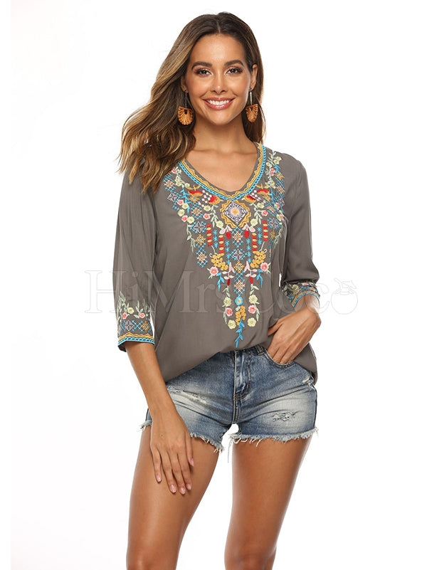 Inwrought Half Sleeve T-Shirts Tops