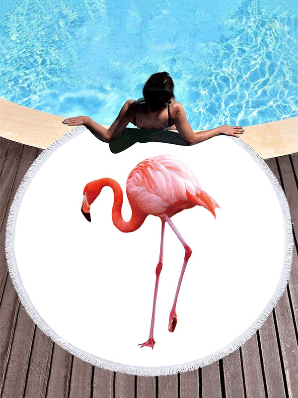 Super Fine Fiber Flamingo Printed Beach Mats