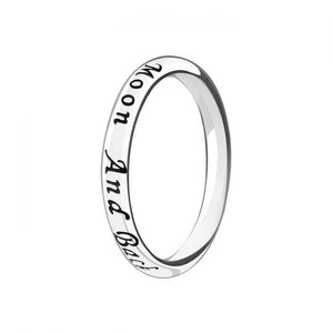 Text Message Moon and Back Ring