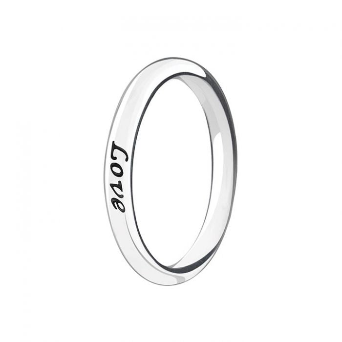 Text Message Live Laugh Love Ring