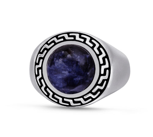 Dark Blue Sodalite Stone Ring