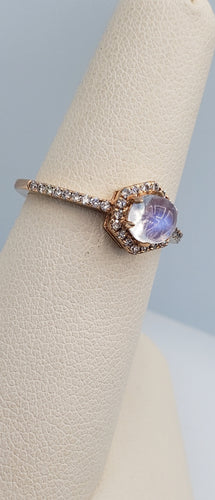 Viv & G Rainbow Moonstone and Diamond Ring