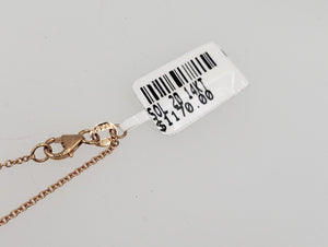 14K Rose Gold .20 Diamond Bezel Necklace
