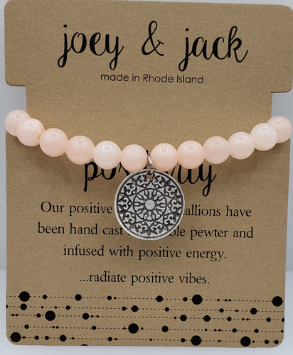 Blush Jade Positivity Medallion